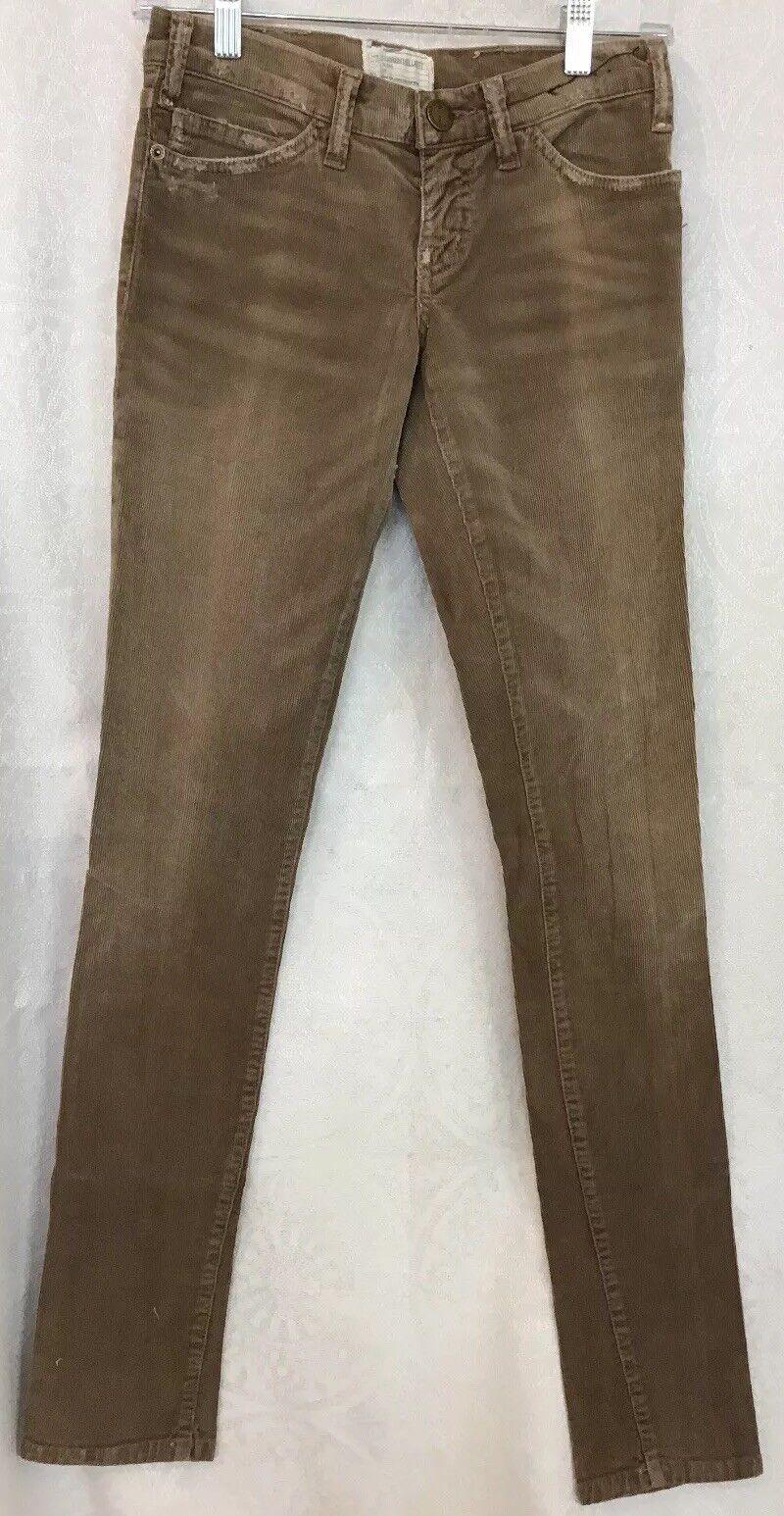 Current Elliott Jeans Tan Corduroy Stretchy Straight Leg size 24