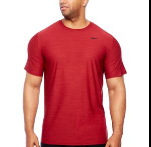 5fd7cb802f6a Men s Nike Big   Tall Dri-FIT Breathe Training Tee Shirt Brgndy ...