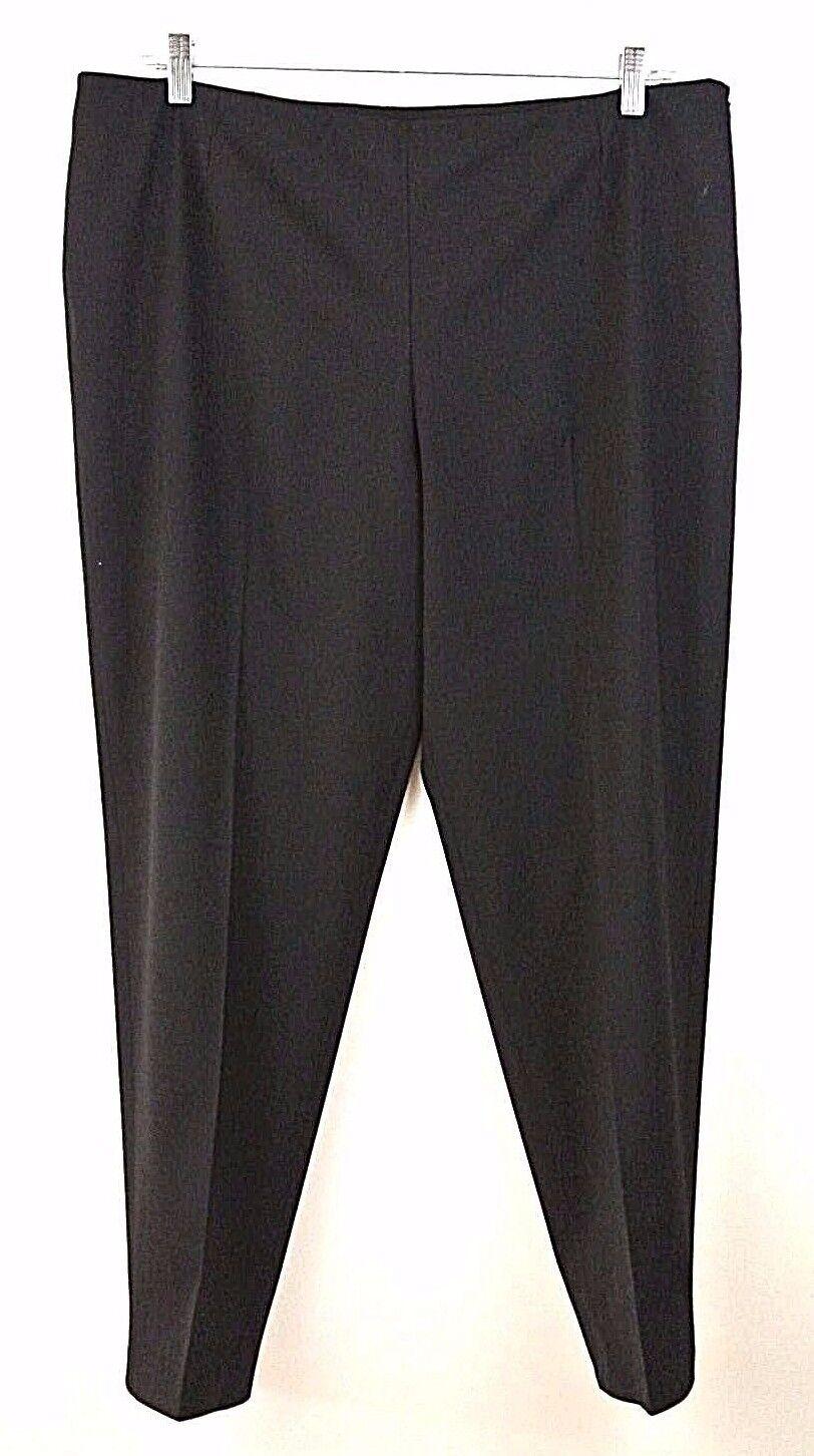 ️LAFAYETTE 148 Wool Blend straight leg Dress pant 16 PLUS SIZE Solid 1001