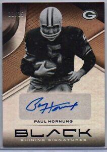 Paul-Hornung-Copper-Parallel-Auto-15-2019-Panini-Black-Football-HOF-Packers