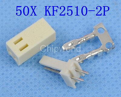 50pcs KF2510-2P 2.54mm Pin Header + Terminal + Housing Connector Kit KF2510 2P