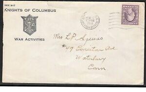 Ee. Uu. 1918 Knights Of Colón Guerra Actividades Cubierta