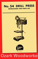 15 Drilling Machine Drill Press Instructions /& Parts Manual 0105 BUFFALO No