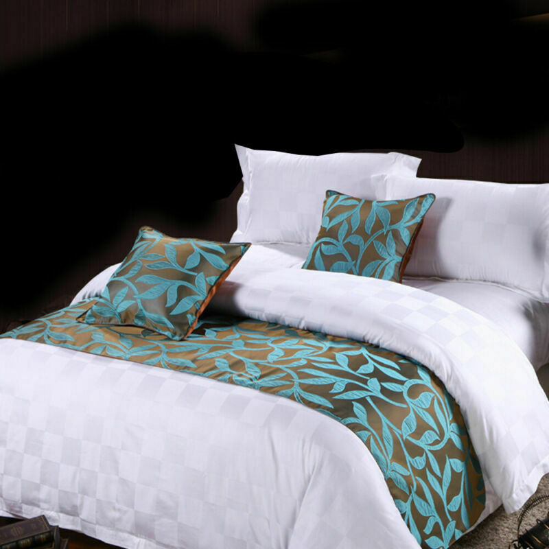 Bettläufer Bettschal überwurf Bettwäsche Kissenbezug für Hotel Schlafzimmer Deko