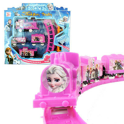 Cute Movie Character Frozen Figures Electric Train Track Kids Children Baby Toy