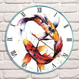 koi fish color design vinyl record wall clock home art shop office rh ebay co uk home art shop brisbane craft shop home art