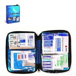 First Aid Kit Emergency Medical Survival Bag Military Home Car Travel 131 Pieces