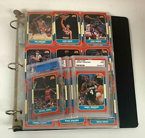 1986-87 Fleer Basketball Complete Set w BGS Michael Jordan RC - Missing Stickers