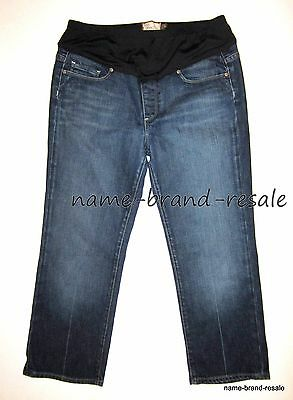 PAIGE MATERNITY Jeans Womens 30 Denim Panel Laurel Canyon Capri Capris DESIGNER