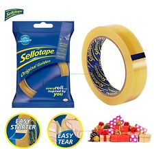 Sellotape Original Golden Tape Roll Packing Wrapping Christmas Gifts 24mm X 66m