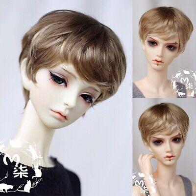 "BJD Doll Hair Wig 8-9/""1//3 SD DZ DOD LUTS mixed blonde short wavy curly"