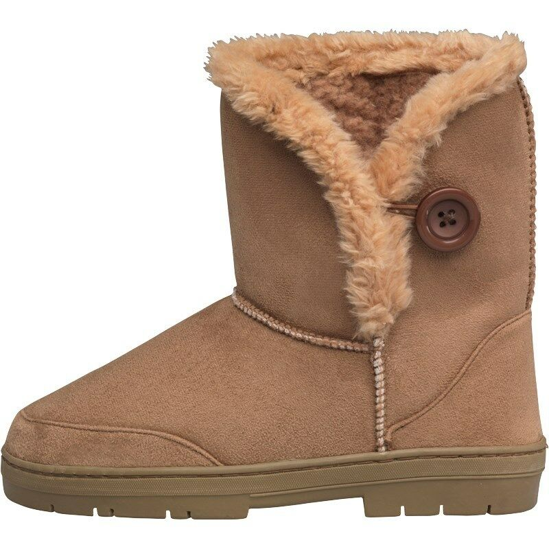 BOARD ANGELS WOMENS CLEAT SOLE BOOTS - CHESTNUT  SIZE 3 - BNIB