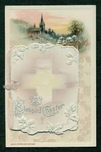 WINSCH-EASTER-EMBOSSED-POSTCARD-WITH-BOOKLET