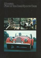 Morgan Fold Out Brochure Incl 4/4, 4/4 4-Seater, Plus 8 70/80s In Good Condition