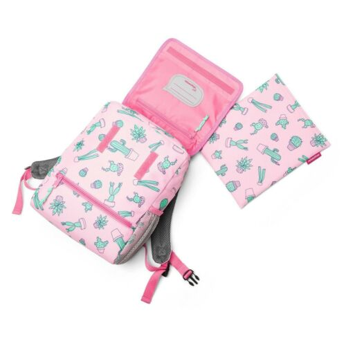 Pink Cactus Kid/'s Backpack With Reflective Safety Strip Water-repellant