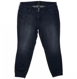 Torrid Denim Skinny Dark Wash Jeggings Plus Size 22 R Womens Blue Jeans