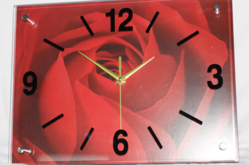 WANDUHR Küchenuhr Viele Motiv Uhr aus Glas