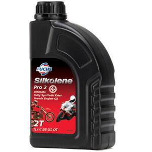 Silkolene-PRO-2-Ultimate-totalmente-sintetico-Aceite-de-Motor-de-2-tiempos-ester-premezcla