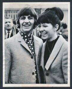 "1965 Ringo Starr, Honeymooning Beatle ""Poses with New Wife ..."
