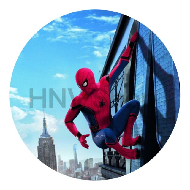 Spiderman Edible Kids Birthday Cake Icing Sheet Topper Decoration Round Images