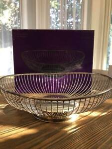 Tempe Elegant In Smell Brand New In Box Independent Retro Silver Plated Oval Bowl/basket Length 11 Inches