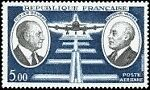 FRANCE-TIMBRE-STAMP-AVION-N-46-034-DIDIER-DAURAT-ET-RAYMOND-VANIER-5F-034-NEUF-XX-TTB