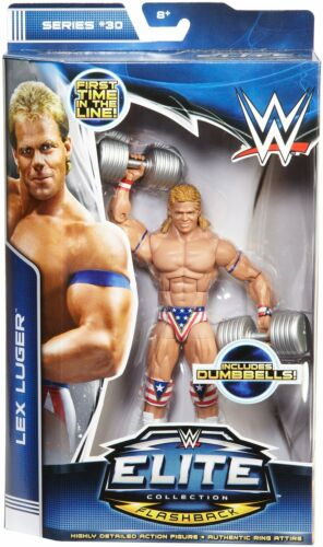 WWE LEX LUGER FIGURE Elite 30 WWF FLASHBACK Wrestling WCW FIRST IN LINE
