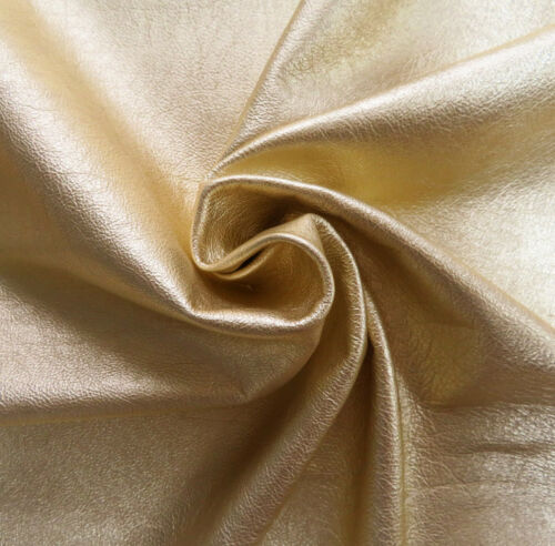Lederhaut  Ziegenleder Gold Metallic weich S190331106 versch Größen