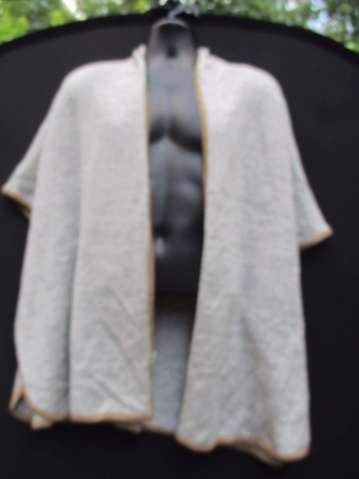 Freeway Boho Draped Open Front Cardigan Asymmetrical Hem Sweater Coat Knit Sz 0S