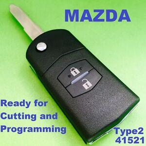 Mazda 6 Mazda Rx8 Car Key Transponder Chip Flip Key Keyless Entry
