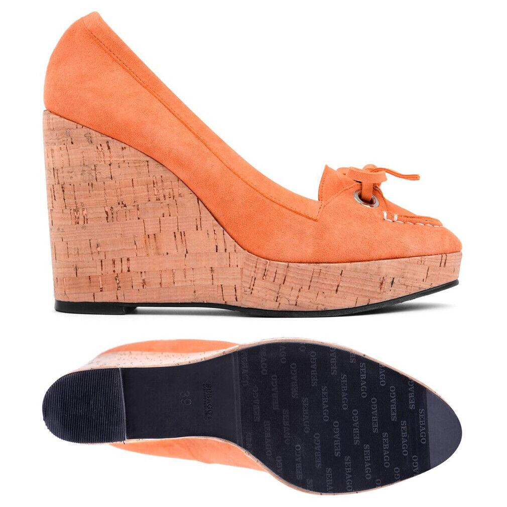 Sebago Elise Mocassin Orange Wedge Chaussures Femme Loisirs Talon B300020