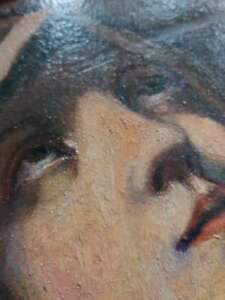 Heiligenbild-Madonna-Gemaelde-Ol-30-5-x-25-cm