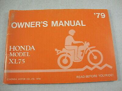3117600 1979 Honda XR80 Motorcycle Owners Manual