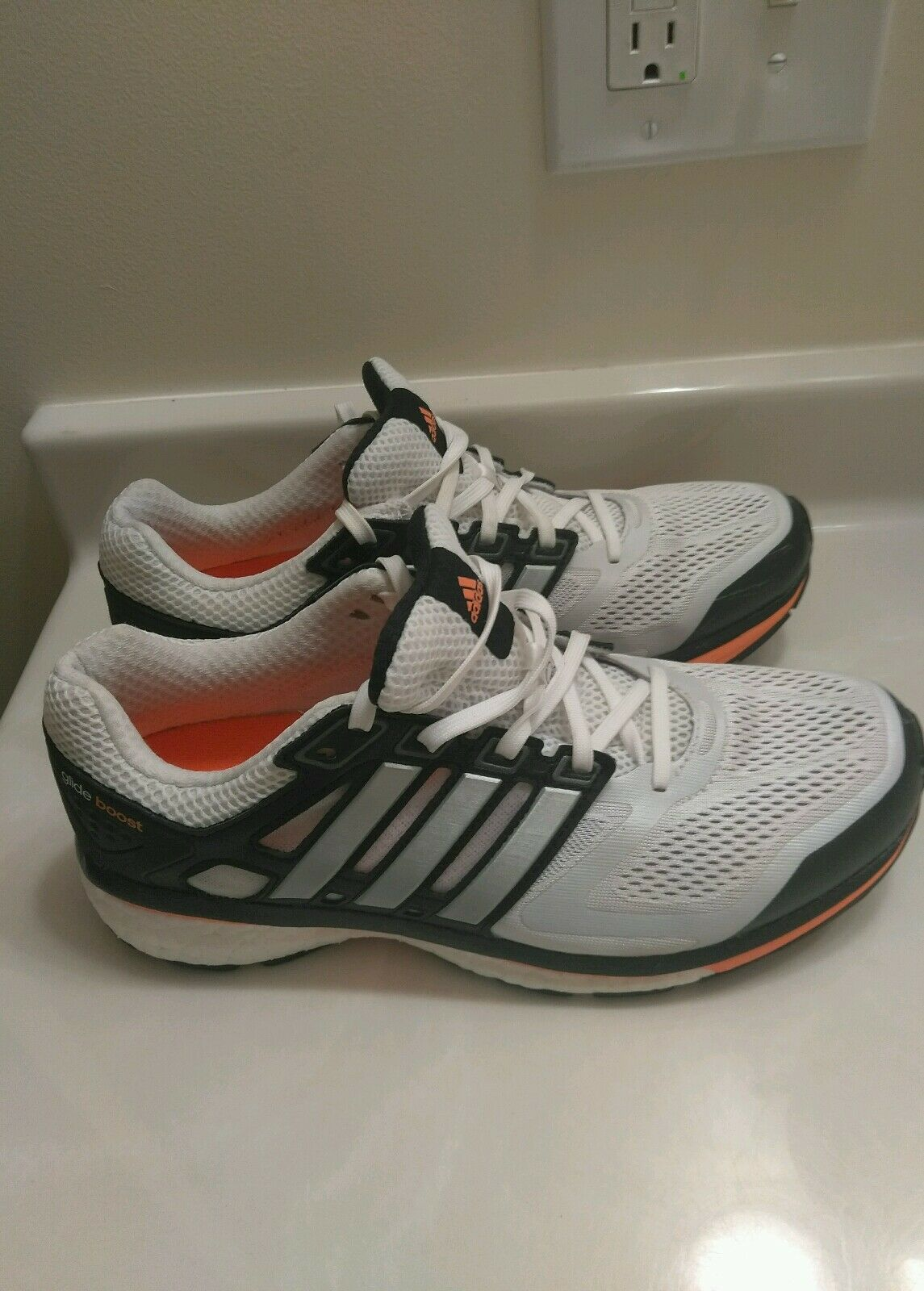 Adidas Men Supernova Glide Boost Running Shoes White/Black Price reduction Casual wild