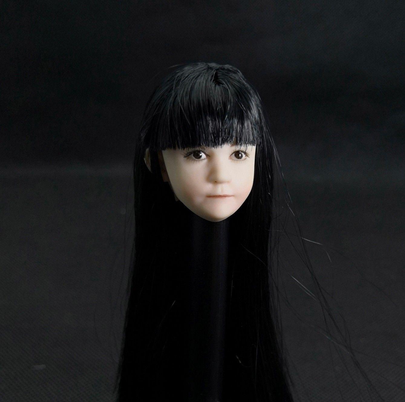 1 6 Cute Girl  autoved Sculpt modellololo giocattolo Female Head Fit 12  azione cifra  Negozio 2018