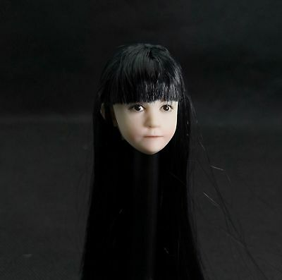 """Details about  /1//12 Beauty Girl Female Bald Head Sculpt Head Carved Fit 6/"""" Action Figure Body"""