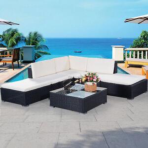 6tlg Gartenmöbel Polyrattan Lounge Gartenset Rattan Sitzgruppe ...