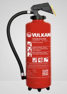 Vulkan 6kg Pulver Auflade Feuerlöscher 43A,12LE ABC Pulverlöscher inkl Plakette