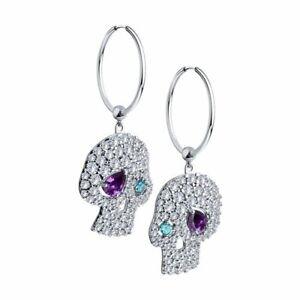 Silver Earrings with Amethyst /& Cubic Zirconia Sokolov Russian Jewelry 925