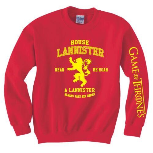 "GAME OF THRONES ""Casa Lannister"" Felpa"