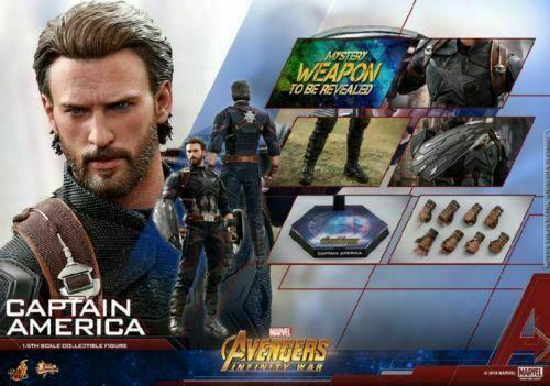 Hot Toys 1 6th Captain America Infinity War Avenger Male Figure Model MMS480 Set