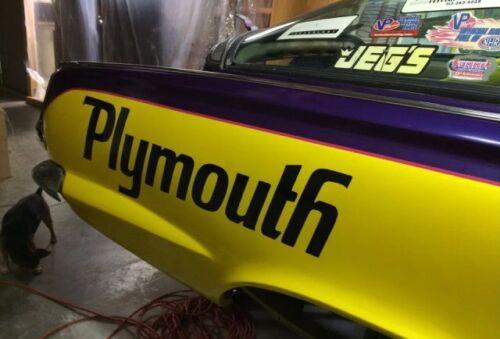 "1970 /""PLYMOUTH/"" ROAD RUNNER SUPERBIRD QUARTER PANEL NAME DECAL SET*"