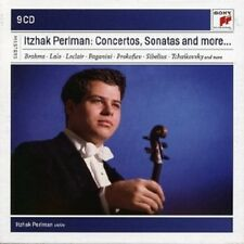 ITZHAK PERLMAN - ITZHAK PERLMAN PLAYS CONCERTOS AND SONATAS  9 CD BRAHMS/+ NEU