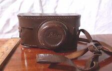 Vintage Genuine E Leitz Wetzlar LEICA III a b c Leather CAMERA CASE 4 ELMAR 50mm