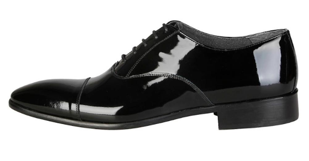 Versace V1969 JEREMY Herren Schuhe Lackleder Business Echtleder 43 46 schwarz