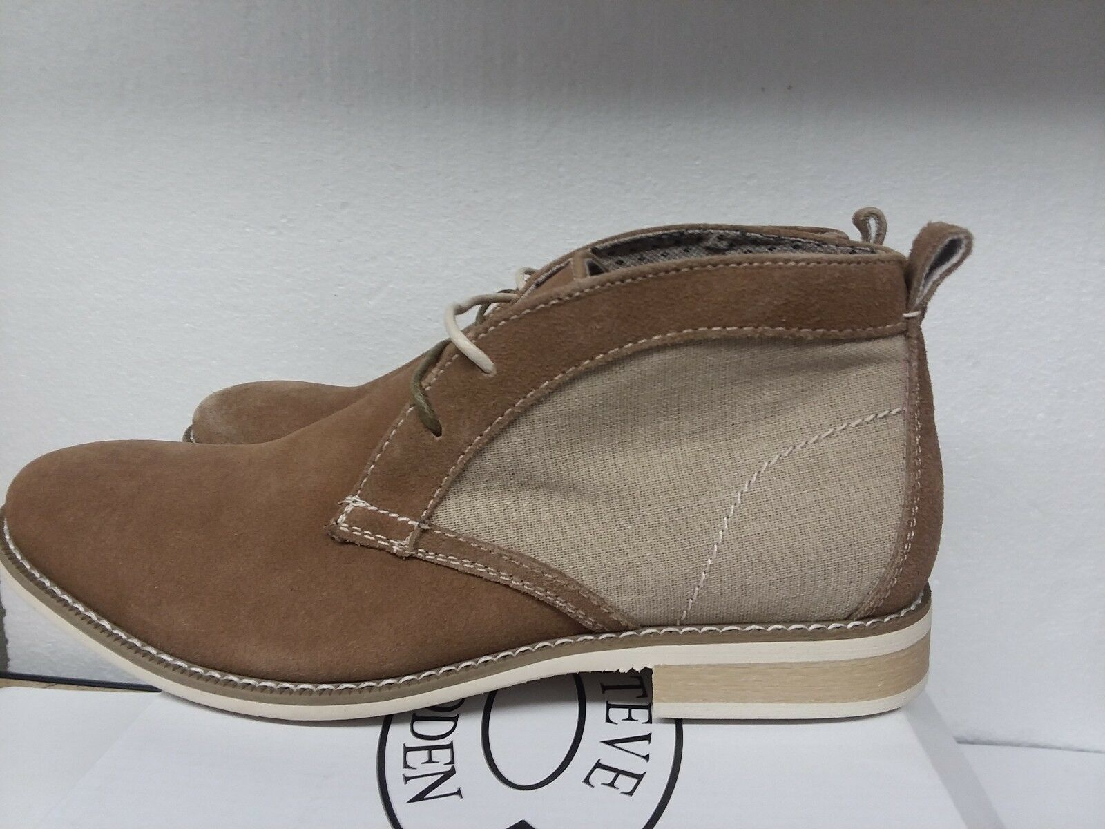 Uomo Scarpe STEVE MADDEN Suede Pelle and Fabric High US; top Boot SAXXEN, US; High 9.5 626aaf