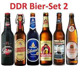 6 ddr biere ostpaket bier 6 beliebte biersorten der ddr 5 pro liter bierset 2 ebay. Black Bedroom Furniture Sets. Home Design Ideas