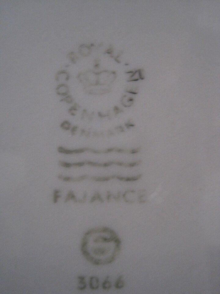 Fajance, diverse , Blå kant (22)