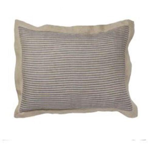 Amity Home Bernadette Stripe Linen Sham Steel blue stripe standard