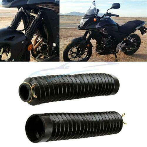 2PCS Rubber Motorcycle Front Fork Gaiters Boots Protector Rubber Coer Seals UK